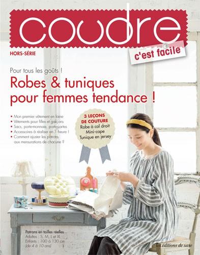 revue coudre c 39 est facile hs n 7 robes tuniques pour femmes tendance jeu de mailles. Black Bedroom Furniture Sets. Home Design Ideas