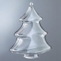Sapin transparent en plastique