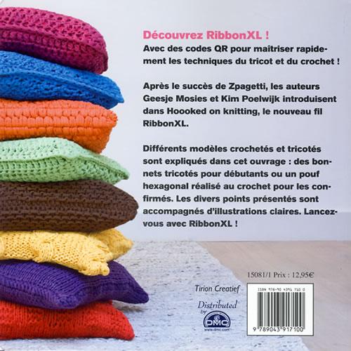 hoooked tricot et crochet avec ribbonxl jeu de mailles. Black Bedroom Furniture Sets. Home Design Ideas