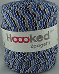 Hoooked Zpagetti - Bobine de 120 m environ - Mix Blue