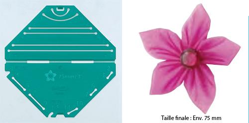 Confectionneur de fleurs Kanzashi - Clover - Pétale pointu Grande taille