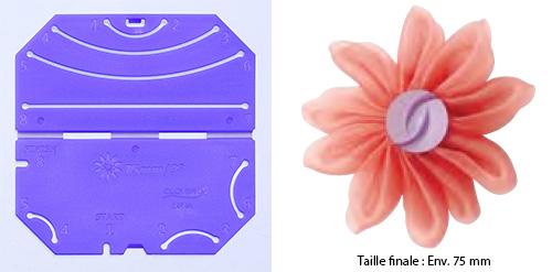 Confectionneur de fleurs Kanzashi - Clover - Pétale froncé Grande taille