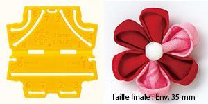 Confectionneur de fleurs Kanzashi - Clover - Pétale rond Très petite taille