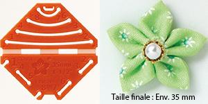 Confectionneur de fleurs Kanzashi - Clover - Pétale pointu Très petite taille