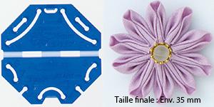 Confectionneur de fleurs Kanzashi - Clover - Pétale marguerite Très petite taille