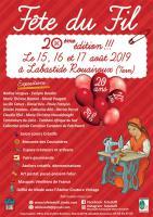La Fête du Fil à Labastide Rouairoux fête ses 20 ans du 15 au 17 août 2019