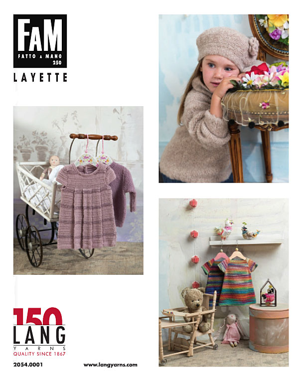 Modèles du catalogue Lang Yarns FAM 250 Layette