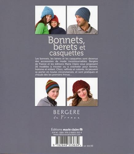 fd96f011ff1f Bonnets, bérets et casquettes - Marie-Claire   Jeu de mailles