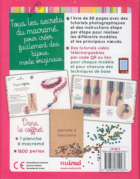Coffret Bijoux En Macrame Techniques Et Modeles Originaux Nuinui Jeu De Mailles