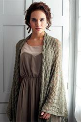 Kit à tricoter Debbie Bliss Châle feuille en Rialto Lace
