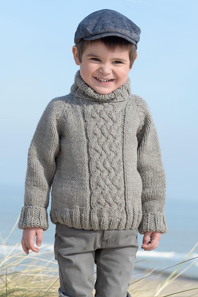 kit tricoter plassard enfant pull torsades et col. Black Bedroom Furniture Sets. Home Design Ideas
