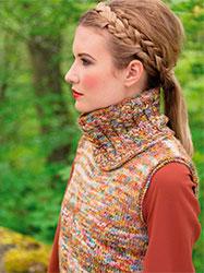Kit à tricoter Louisa Harding Pull sans manches + Col Bernice