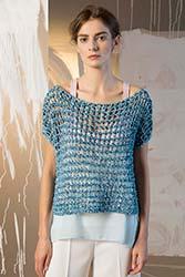 Kit à tricoter Lang Yarns Pull ajouré manches courtes en Arien