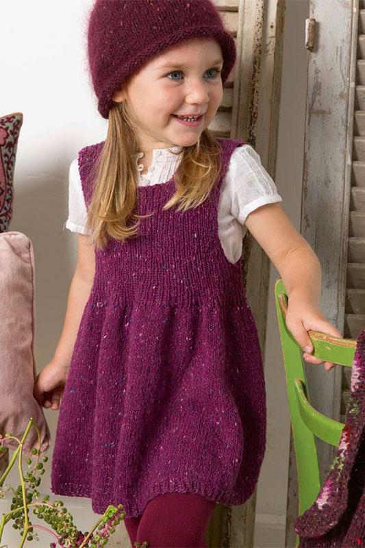 Kit à Tricoter Lang Yarns Enfant Robe En Donegal