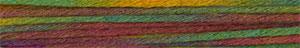 Adriafil Amami - Pelote de 50 gr - 43 fantaisie vert-jaune-bordeaux