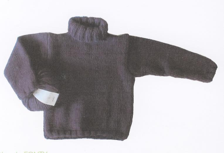 fiche mod le les tricots de citronille n 007 le gros pull col roul jeu de mailles. Black Bedroom Furniture Sets. Home Design Ideas