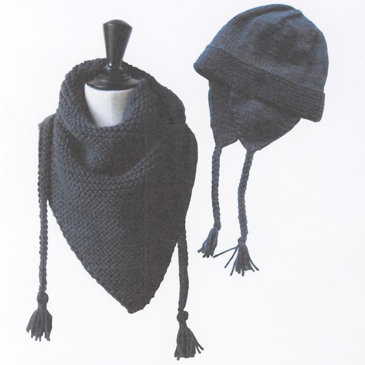 db854a98753c Fiche modèle Les tricots de Citronille - n°054 Châle et bonnet péruvien