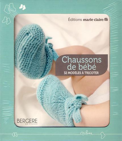 61c2b2fbb8eb Coffret Chaussons de bébé, 32 modèles à tricoter - Marie Claire ...