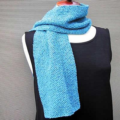 tricoter une echarpe en coton
