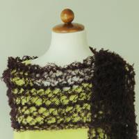 Kit à crocheter Jeu de mailles Echarpe à la fourche effet dentelle