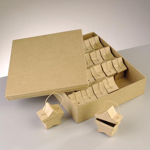 Boite Calendrier De Lavent.Set De Boites De Calendrier De L Avent En Carton Papp Art Etoiles Jeu De Mailles