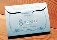 Grande pochette dépliante 120 aiguilles à coudre - Sajou