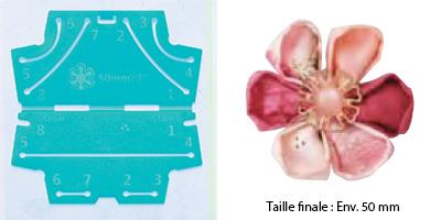 Confectionneur de fleurs Kanzashi - Clover - Pétale rond Petite taille