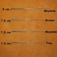 Aiguille à feutrer - longueur 7,8 cm