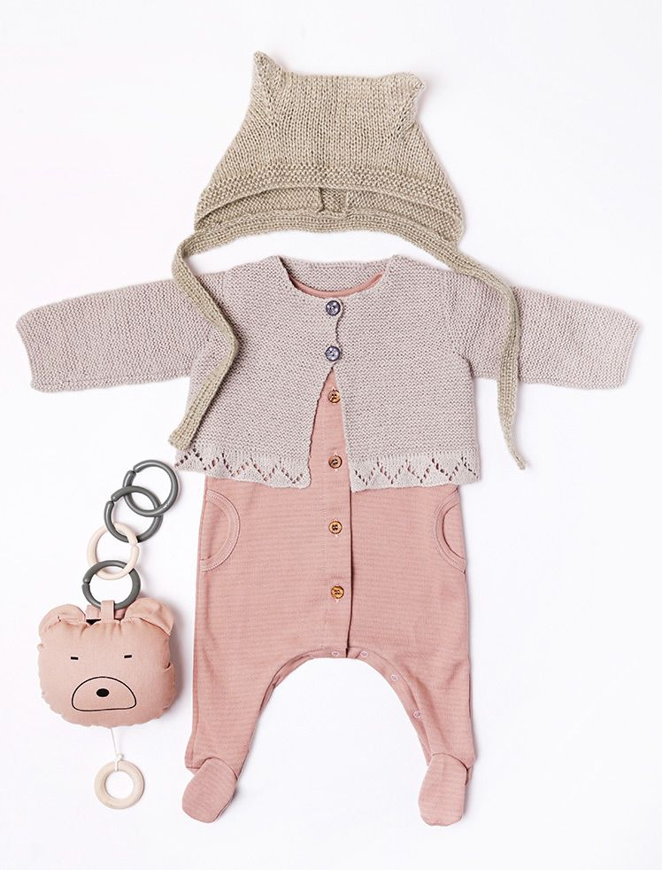 150/08 Cardigan en Plassard Layette plus