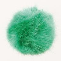 Pompon acrylique aspect fourrure diam. 10 cm - Rico Design - Vert
