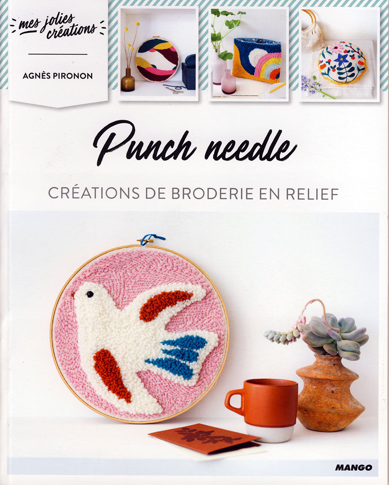 Punch needle, Créations de broderie en relief - Mango