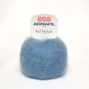 Adriafil Kid Mohair - Pelote de 25 gr - 80 bleu aviation