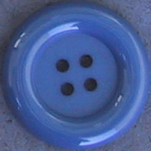 Bouton clown 70 mm - Bleu