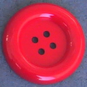 Bouton clown 70 mm - Rouge