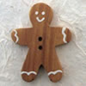 Bouton en bois Gingerbread 40 mm - Marron clair