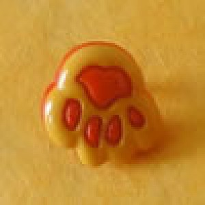 Bouton Patte d'ours - 12 mm - Jaune
