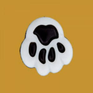 Bouton Patte d'ours - 12 mm - Blanc