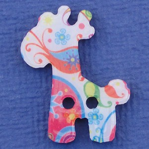 Bouton Multicolore - Girafe 32 mm