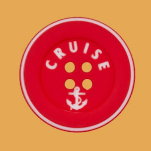 Bouton Cruise 18 mm - Rouge
