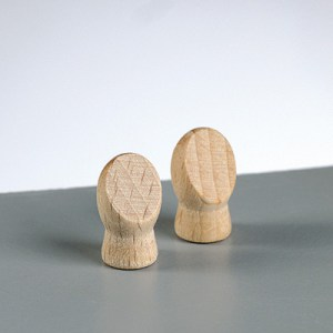 Mains en bois, perforation 5 mm, 18 × 10 mm - la paire