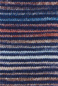 Adriafil Mistero Stripes & Stitches - Pelote de 50 gr - 92  Rayures bleu/marron/rouge