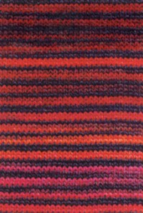 Adriafil Mistero Stripes & Stitches - Pelote de 50 gr - 93  Rayures rouge/orange/fuchsia