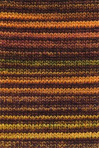 Adriafil Mistero Stripes & Stitches - Pelote de 50 gr - 96  Rayures orange/jaune/vert