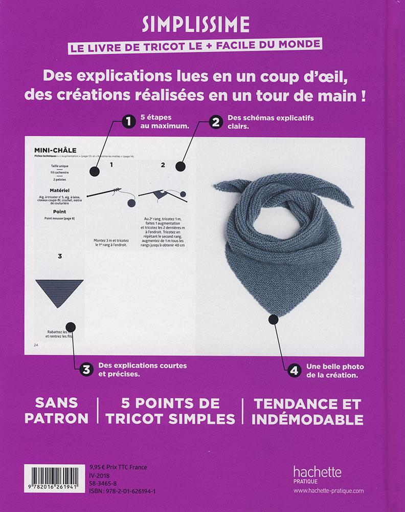 Simplissime Le Livre De Tricot Le Facile Du Monde Hachette Jeu De Mailles