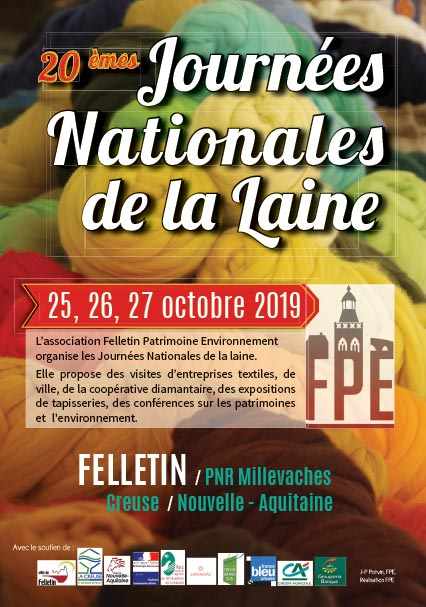 Journées nationales de la laine à Felletin du 25 au 27 octobre 2019